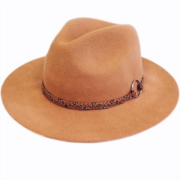 f319b419b90 Panama Hat Wide Brim Stud Braided Suede Trim
